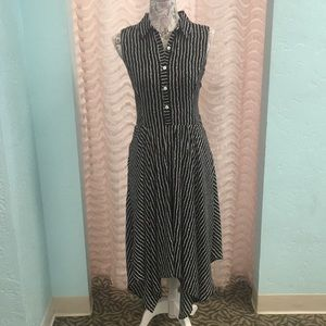 Danny & Nicole Black and White Stripped Dress.